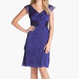 Adrianna Papell Tiered Chiffon Dress - Amethyst